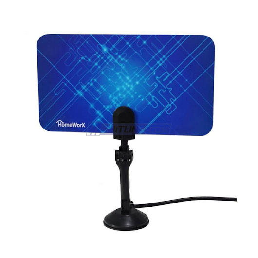 HomeWorx Digital TV Flat Antenna, UHF and VHF - $7.99