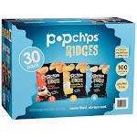 Popchips Potato Ridges, Variety Pack, 0.8 oz, 30-count