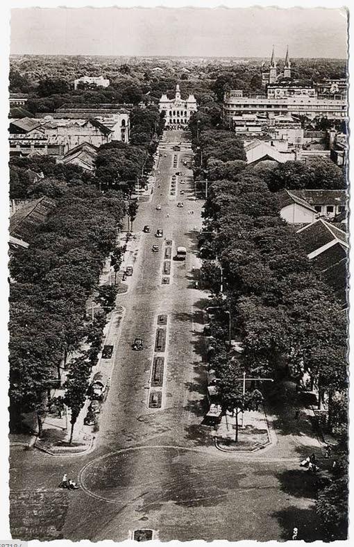 Đường Nguyễn Huệ ngày xưa (ảnh chụp từ trên cao). Nguồn: flickr.com/manhhai
