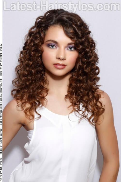 Sombre Color de pelo en pelo rizado