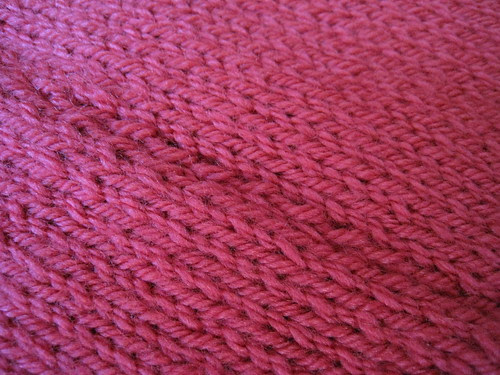 Knitted snood, pomegranate