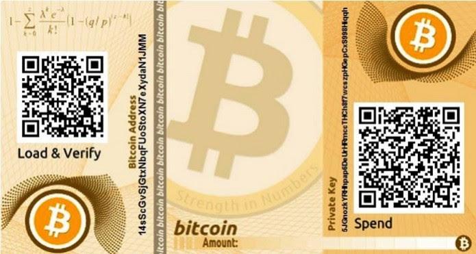 Figura 2: uma carteira de bitcoins (Foto: Reprodução/Internet)