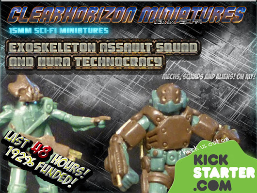 ExoSkeleton Assault Squad and Hura Technocracy - 15mm Sci-Fi
