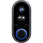 Heath Zenith Notifi Elite Wired Smart Video Door Bell Featuring Built-In Mic and 160 Degree Lens, Black (New Open Box)