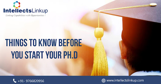 Things to know before you start your Ph.D
