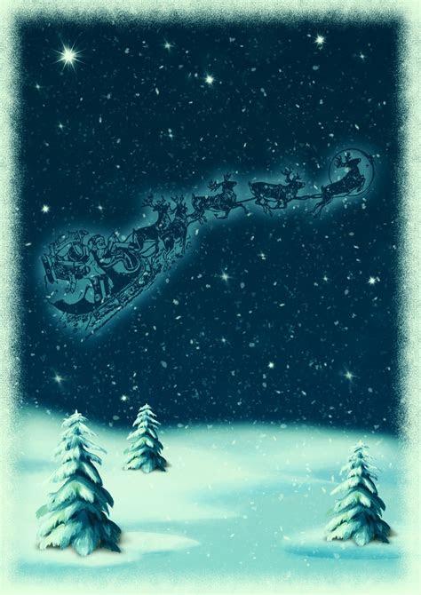 images christmas motive snowy landscape santa