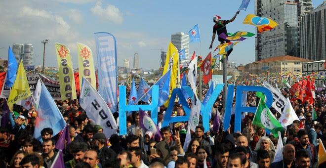 Manifestación a favor del 'No' en Estambul. - REUTERS