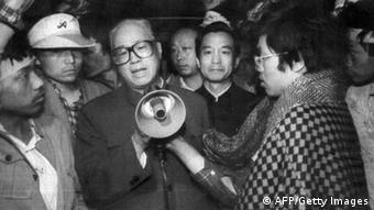 Zhao Ziyang Generalsekretär der KP China 19.05.1989 (AFP/Getty Images)