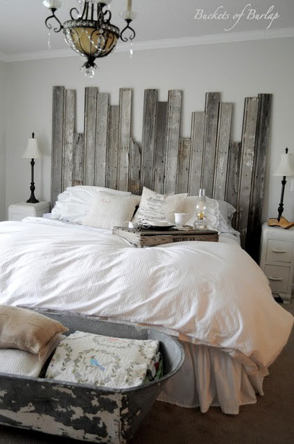 Decorating With White In A Rustic Shabby Chic Bedroom Rustic