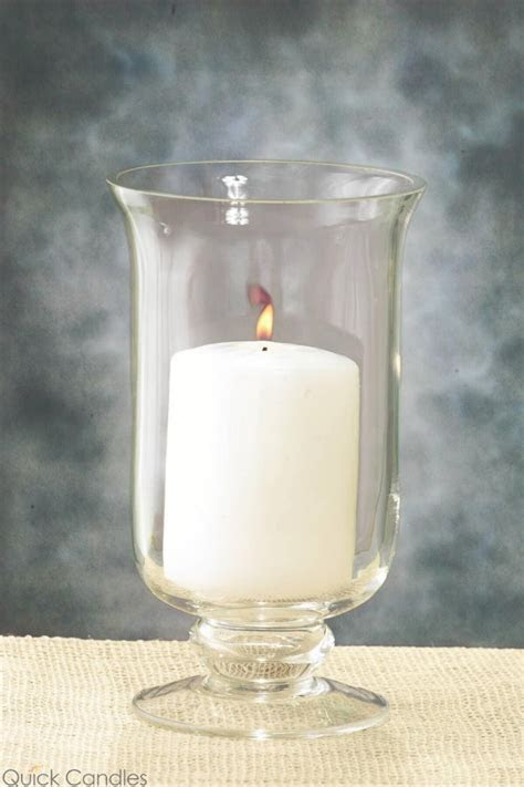 8in Hurricane Vase & Candle Holder   Quick Candles