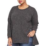 Rachel Roy Womens Side-Zip Knit Sweater, Grey, 0X