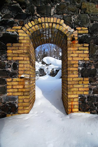 Powderhouse in Winter by dcclark