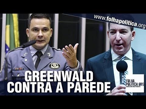 Capitão Alberto Neto coloca Glenn Greenwald contra a parede sobre caso de hacker contra Sergio Moro
