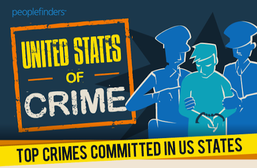 United States of Crime – Top Crimes Committed in US States [Infographic]