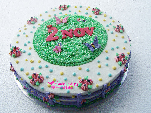 Birthday Cake Garden Theme
