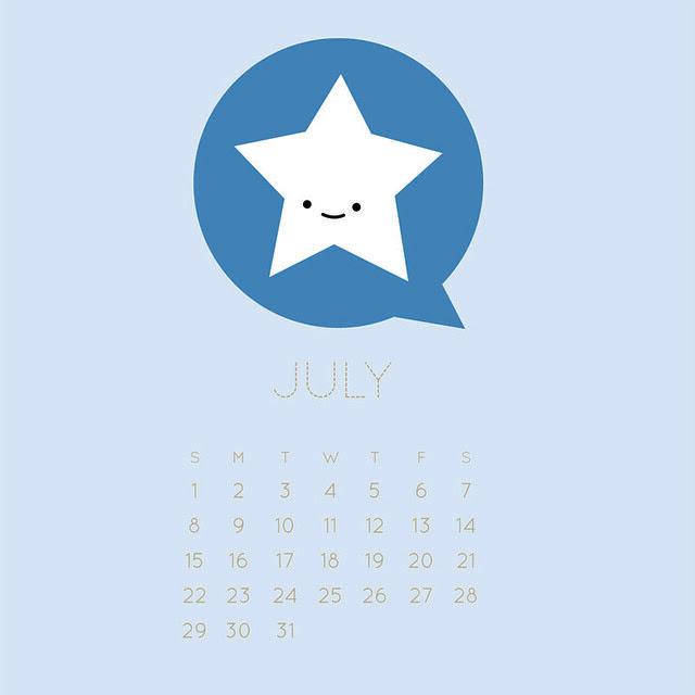 2012 July Calendar