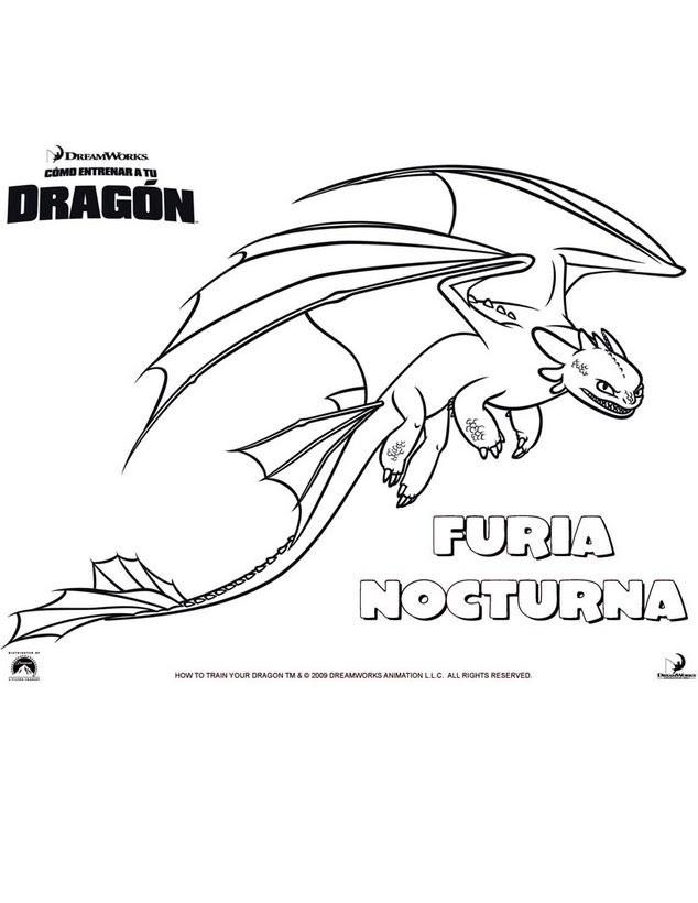 Dibujos Para Colorear Como Entrenar A Tu Dragon 8 Dibujos Para
