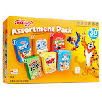 Kellogg's Assorted Cereals, 30 boxes, Variety Pack 30 Boxes - Variety Pack
