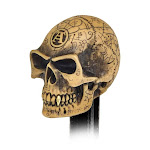 The Vault V48 Omega Skull Paperweight & Gear Knob