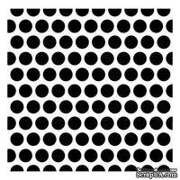 Трафарет Крупные горошины 15,2*15,2см толщина 0,31мм SCB53100018 - ScrapUA.com