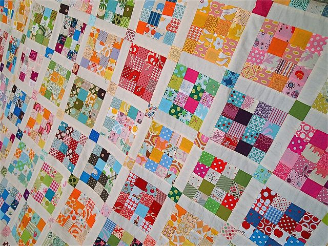 scrap quilt, scrappy quilt, 16 patch
