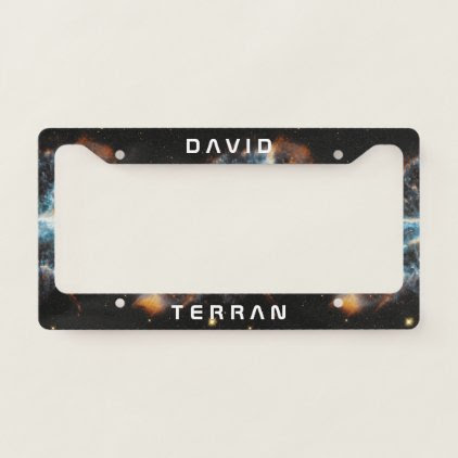 Monogram: You The Terran in Space. Funny Gift. License Plate Frame