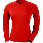 A4 NW3002 Ladies Long Sleeve Cooling Performance Crew Shirt-SCARLET-L