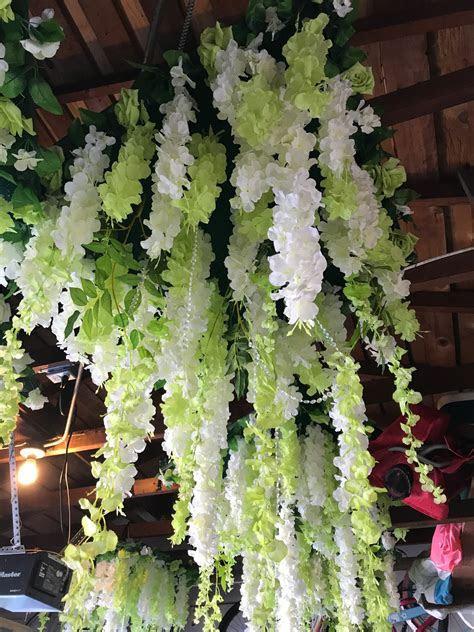 Hanging Wisteria Racks   Silk Flower Decoration   BravoBride