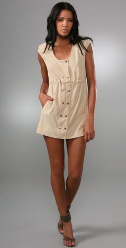 BARLOW Cutout Back Mini Dress
