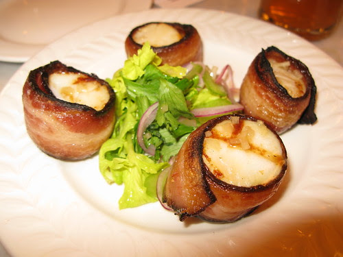 bacon wrapped scallops @ local 121