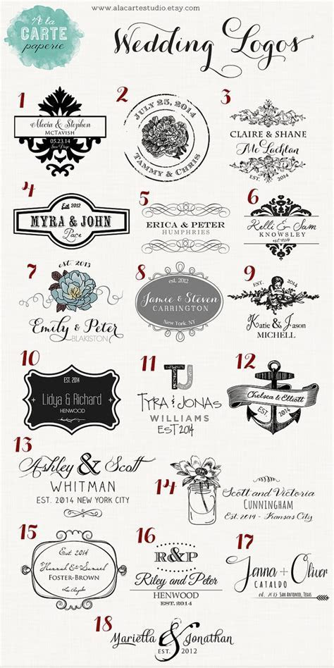 25  best ideas about Wedding Logos on Pinterest   Wedding