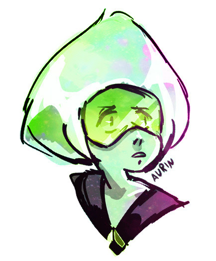 first time drawing peridot!!! it doesnt look like her but idc i rlly like this nerd alien