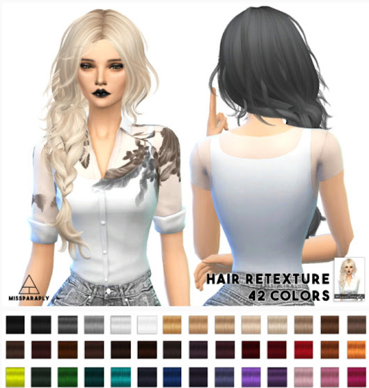 Sims 4 Hairs ~ Miss Paraply: MaySims Hairstyle retextured