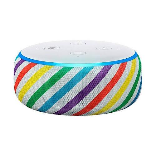 Amazon Echo Dot Kids Edition Smart Speaker - Wireless - Rainbow