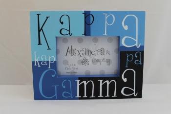 Paddle Tramps Kappa Kappa Gamma Block Frame