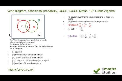Venn Diagram Questions Worksheet