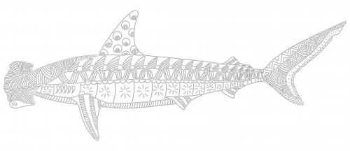 Hammerhead Shark Coloring Page - KidsPressMagazine.com