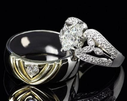 Unique His and Hers Wedding Ring Band Photos   LoveToKnow