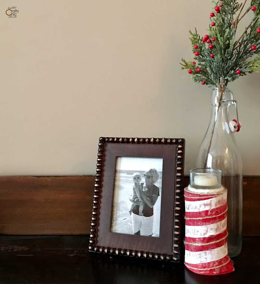 DIY Candy Cane Candle Holder From Birch - Rustic Crafts & Chic Decor