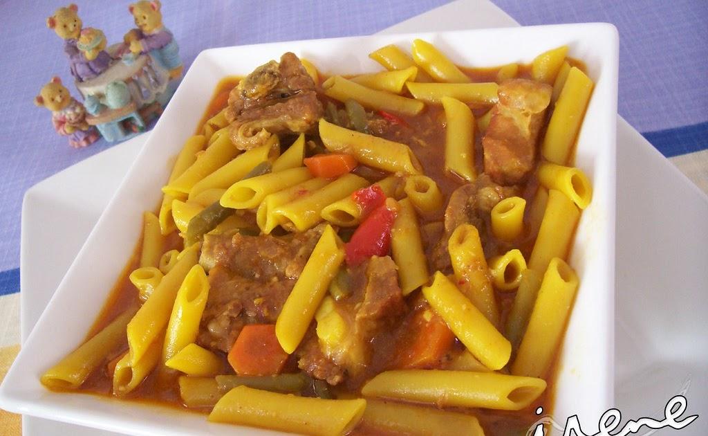 La cocina casera de irene guisado de macarrones con costillas for La cocina casera