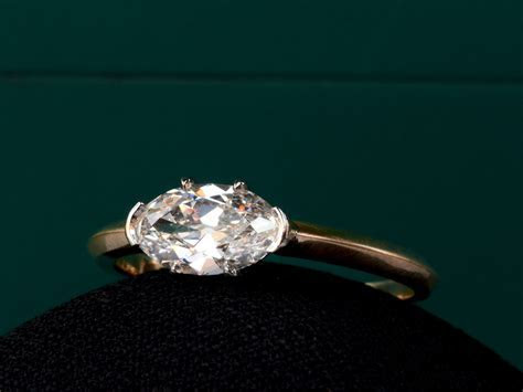 EB 0.93ct Antique Oval Ring   Erie Basin