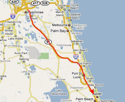 Turnpike Florida Map.Florida Turnpike Map