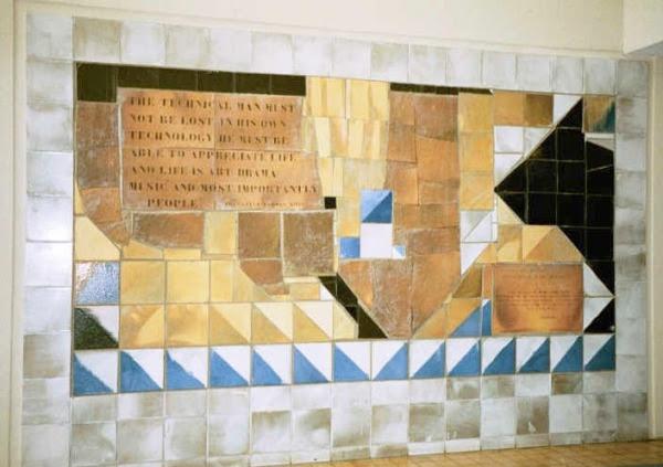 Dedication plaque for Fazlur Khan at the Onterie Center designed by Joan Gardy Artigas