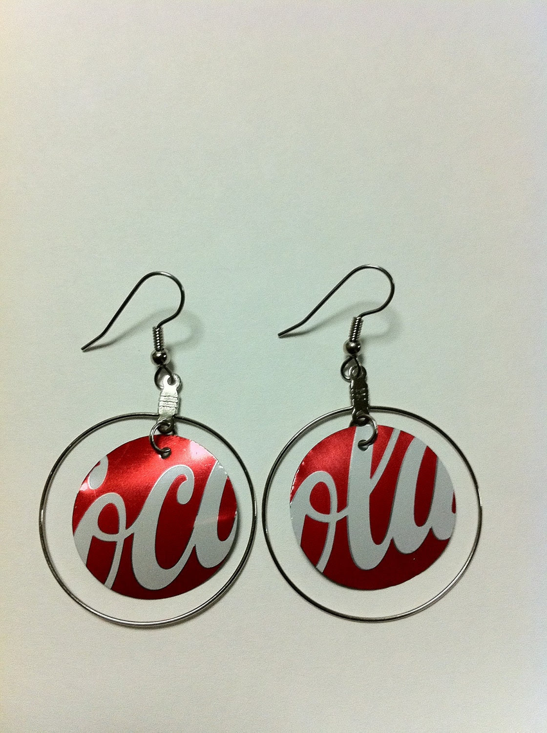 Soda Can Earrings - Coca Cola