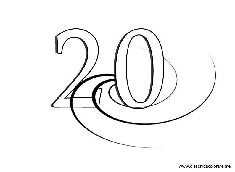 Numero 20 Disegni Da Colorare