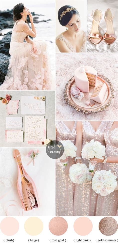 Elegant Ethereal Wedding in Blush rose gold & Reem Acra