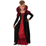 Vampiress Queen Costume For Kids - Size Medium