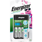 Energizer - Recharge 1-Hour NiMH AA/AAA Battery Charger - Black