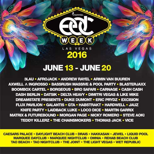EDC Week 2016, June 13 - 20, Week-Long Schedule Of Events Unveiled » Lifestyle Magazine Curating Travel, Food, Tech, Celebrities And Events
