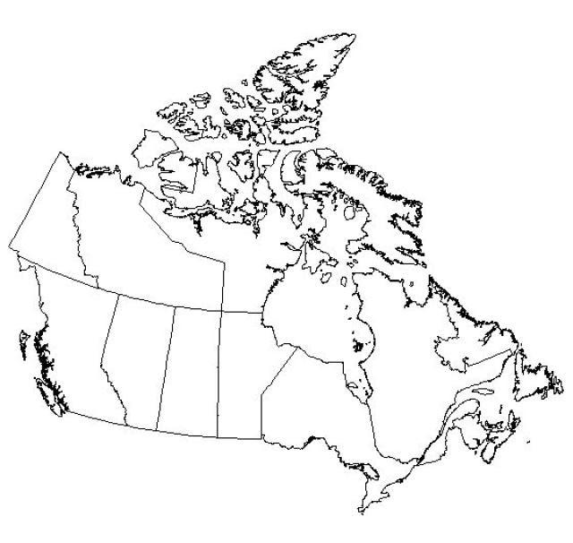 Blank Map Canada Deadrawings